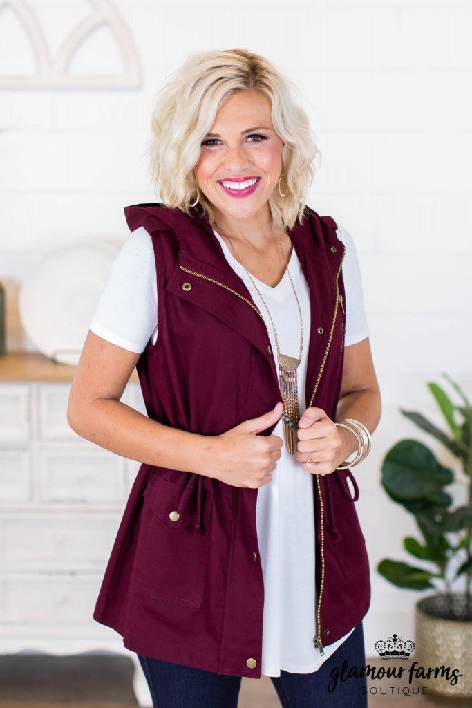 sku9028 | **Daily Deal** Hooded Utility Vest