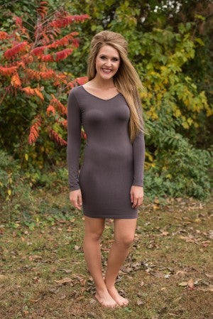 Curvy| Ahh-Mazing Dress Shaper - Dark Gray