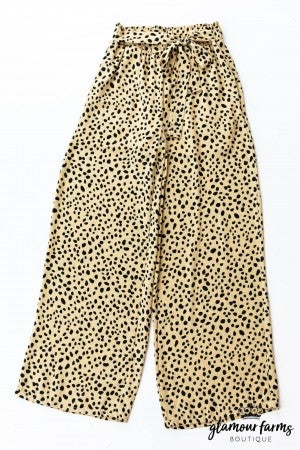 sku13041 | Animal Print Wide Leg Pants