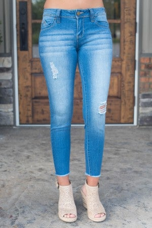 Callie Frayed Hem Ankle Jean