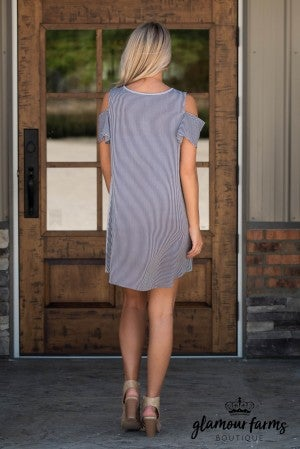 Join The Party Cold Shoulder Tunic