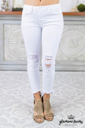 Mara Destroyed Hem Skinny Jean
