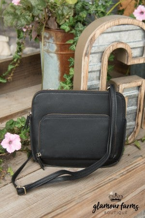 JOY SUSAN New Nicole Crossbody - Black