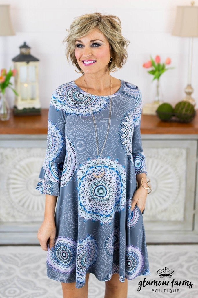 The Sweetest Day Medallion Dress
