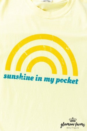 sku12985 | Sunshine In My Pocket Graphic Tee
