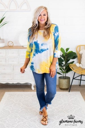 sku11792 | Tie Dyed Dolman Top