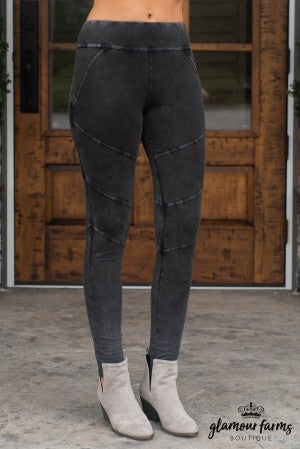 Mia Washed Moto Jegging