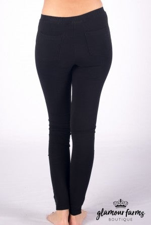 Sebastian Stone Washed Moto Jegging