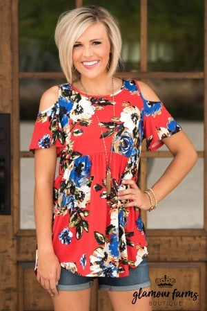 Lost In You Floral Tunic