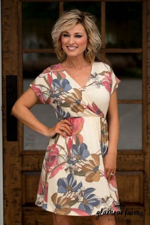 Taylor Floral Faux Wrap Dress