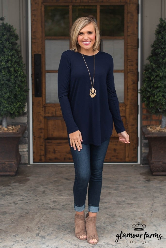 c92745847ed6   Daily Deal   Embrace The Classics Long Sleeve Top - navy