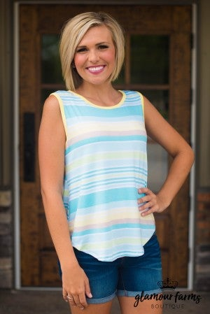 **Daily Deal** On The Glow Stripe Tank