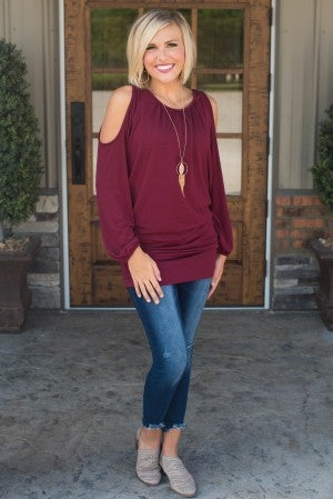 **Daily Deal** Fun And Fearless Cold Shoulder Tunic