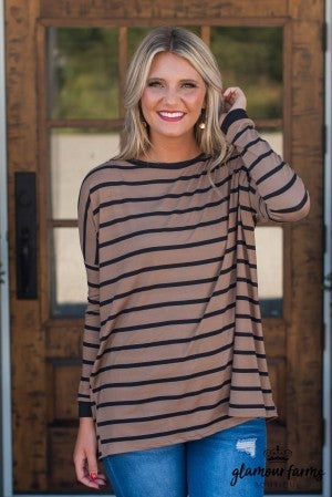 Along The Way Stripe Tunic