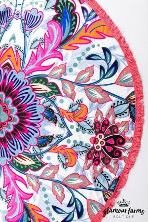 sku13308 | Round Paisley Beach Towel