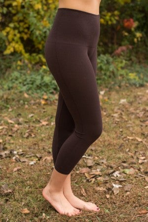 Ahh-Mazing Tummy Tuck Crop Legging - Dark Brown