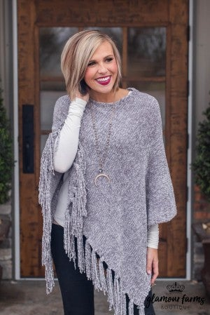 **Daily Deal** Snow Much Fun Chenille Poncho