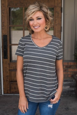 **Daily Deal** In No Time Stripe Top