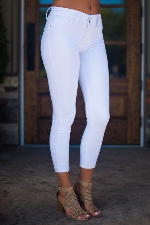 Annie Two Button Skinny Jean