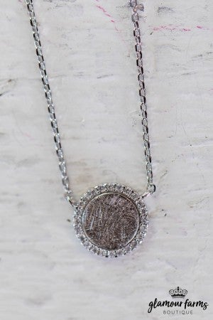 sku10764 | **Daily Deal** Circle Charm Necklace