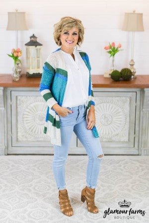 Gentle Breeze Stripe Cardigan