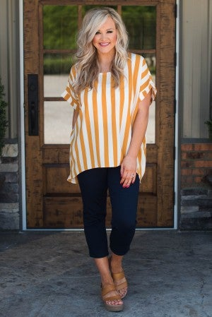 Stroll On The Beach Stripe Top