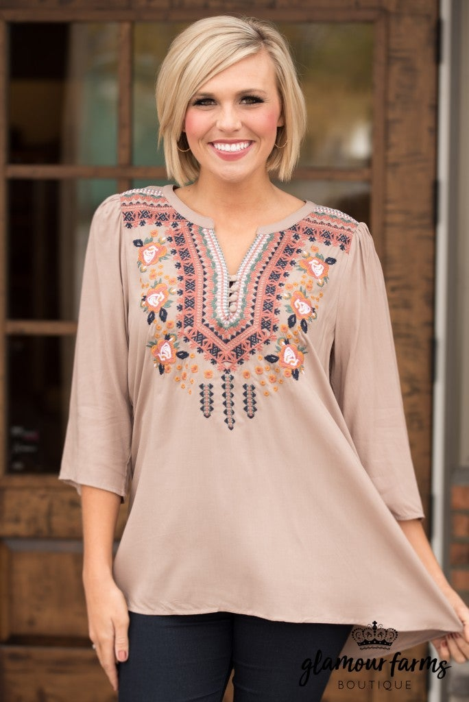 Sweet Virginia Embroidered Top