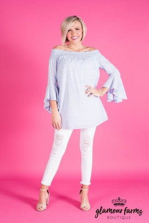 Heather Off Shoulder Tunic