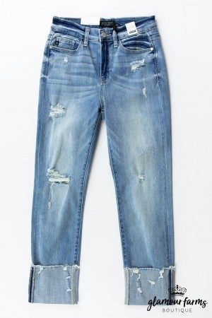sku13244 | Destroyed Straight Leg Jean