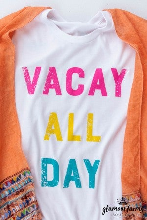 sku12977 | Vacay All Day SS Graphic Tee