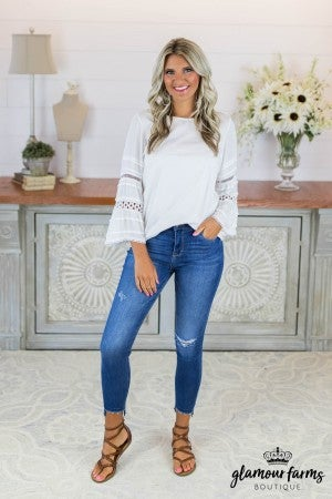sku8720 | **Daily Deal** Knit Bell Sleeve Top