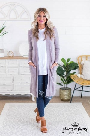 sku11617 | **Daily Deal** Long Lightweight Cardigan
