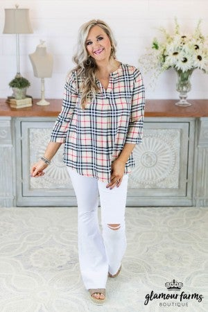 All The Rage Plaid Tunic