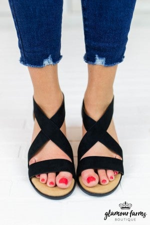 Doria Cross Band Sandal