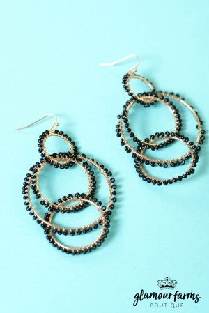 Samantha Seed Bead Earrings