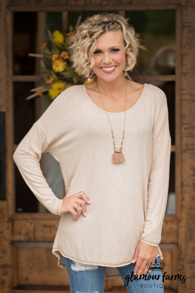 Weekend Vibes Tunic - Oatmeal