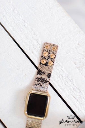 sku9122 | Faux Leather Apple Watch Band