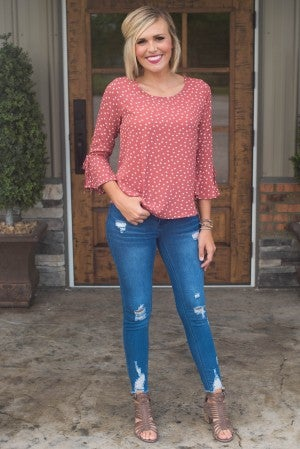 ** Daily Deal** Pamela's Polka Dot Top