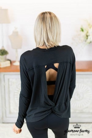 Cut-Out Back Active Pull-Over
