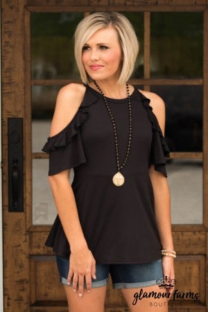 One Sweet Day Cold shoulder Top