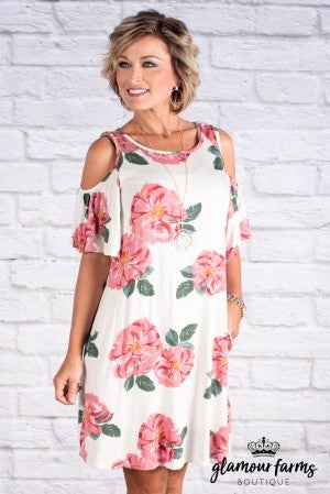 Bree Cold Shoulder Floral Dress