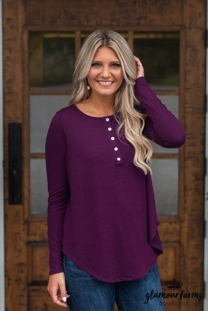 ***Daily Deal** Fall Into Casual Henley Top