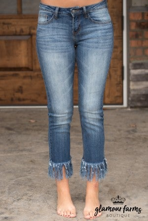 Cambria Frayed Skinny Jean