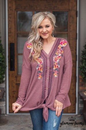 Vintage Love Embroidered Top