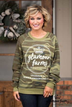 Glamour Farms Logo Camo Sweatshirt
