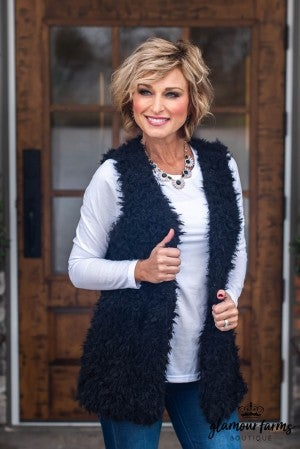 **Daily Deal** Frosty Chill Faux Fur Vest