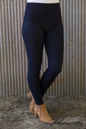 Ahh-Mazing Tummy Tuck Denim Legging - Indigo