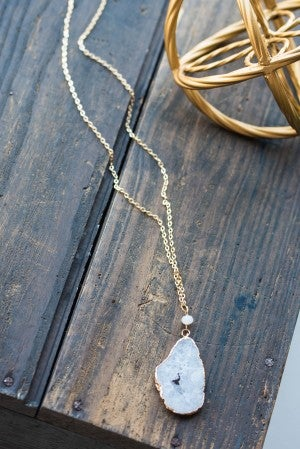 Jewel Druzy Quartz Necklace