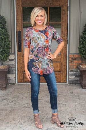 Here With Me Paisley Tunic