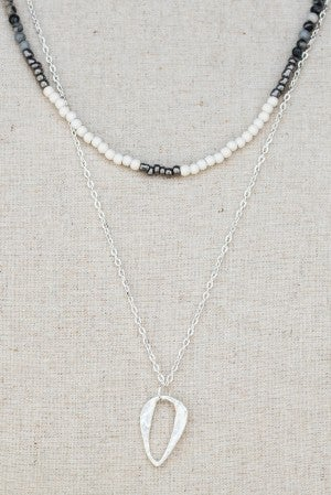 Caitlynn Beaded Double Necklace